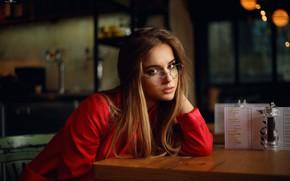 Wallpaper Lisa, the beauty, sponge, Dmitry Arhar, glasses