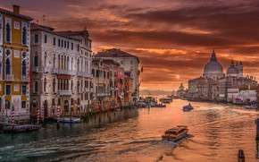 Picture the city, the evening, Italy, Venice