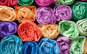 Wallpaper pattern, colors, fabrics