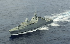 Picture frigate, formidable, the Navy of Singapore