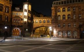 Picture Night, Germany, Building, Frankfurt, Germany, Night, Buildings, Frankfurt
