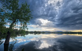 Picture The sky, Reflection, Lake