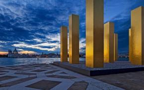 Wallpaper installation, The sky over nine columns, Italy, Urbandale, Venice
