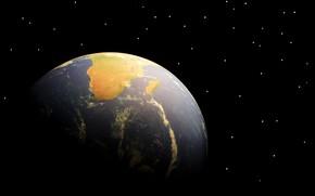 Wallpaper Earth, stars, planet, Africa, Madagascar
