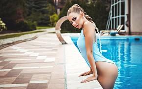 Picture swimsuit, look, water, pose, pool, Catherine, Anton Kharisov, Katrin Sarkozy
