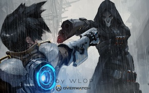 Picture Game, Blizzard Entertainment, Reaper, Overwatch, Tracer, By Wlop