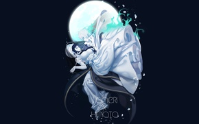 Picture night, the moon, art, pair, guy, two, Naruto, Hinata, the movie 9