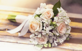 Picture roses, flowers, wedding bouquet, roses, wedding