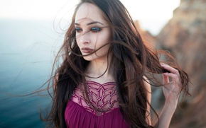 Picture the wind, hair, makeup, sponge, Ale Nechitailova