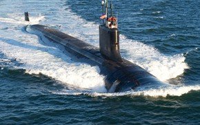 Picture submarine, surface course, uss mississippi