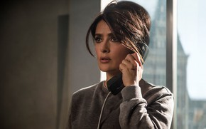 Picture frame, window, hairstyle, phone, Salma Hayek, Salma Hayek, The Hitman's Bodyguard, Bodyguard killer