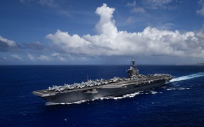 Picture the carrier, USS Theodore Roosevelt, CVN 71