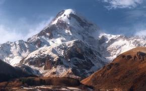 Picture mountain, Georgia, 5033, Kazbek, Glacier