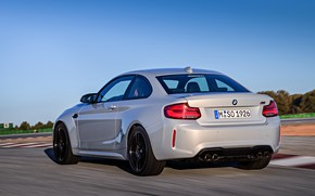 Picture movement, coupe, track, BMW, rear view, 2018, F87, M2, M2 Competition