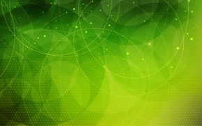 Picture abstraction, background, green, Abstract, circles, background, dots