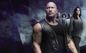 Picture background, smoke, action, poster, Michelle Rodriguez, Dwayne Johnson, Dwayne Johnson, Michelle Rodriguez, Ludacris, Tyrese Gibson, …