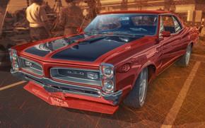Wallpaper design, car, Pontiac GTO