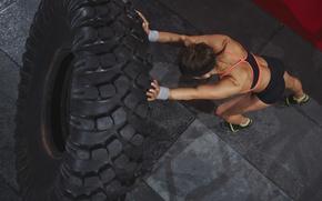 Wallpaper Crossfit, woman, workout, female, pneumatic