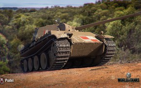 Wallpaper WoT, World of Tanks, Wargaming, Pudel