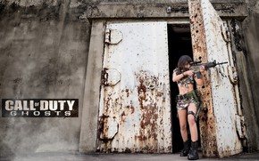 Picture girl, weapons, Call Of Duty