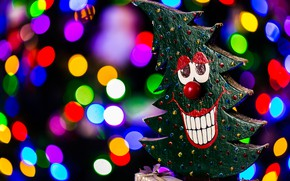 Picture joy, smile, background, holiday, tree, new year