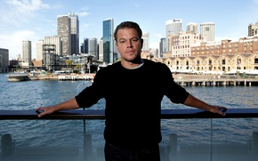 Picture the city, river, home, actor, Sydney, Matt Damon, photoshoot, the parapet, Matt Damon, Chris Pavlich