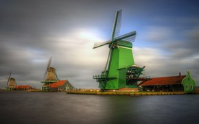 Picture channel, Netherlands, windmill