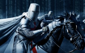 Picture armor, horse, helmet, knights, Crusader