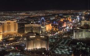 Picture the city, home, panorama, Las Vegas, night city lights