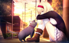 Picture kawaii, nothing, anime, cat, pretty, deredere, bishojo, moe, seifuku, japonese, Lucia of End