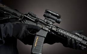 Wallpaper scope, machine gun, band