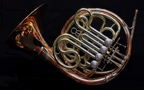 Picture background, tool, The French horn