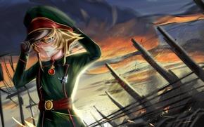 Picture kawaii, battlefield, girl, gun, soldier, military, weapon, war, anime, blonde, asian, pose, cute, manga, oriental, …