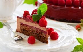 Picture raspberry, cake, cake, cream, sweet, raspberry