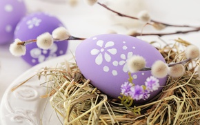 Wallpaper Easter, Verba, spring, Easter, eggs, decoration, Happy, the painted eggs