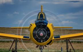 Wallpaper North American, T-28, the plane, Training, Trojan
