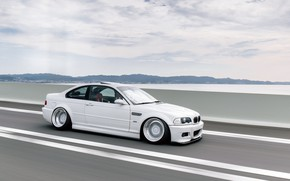 Picture The sky, Auto, White, BMW, Machine, White, BMW, Car, E46, BMW M3, German, BMW E46, …
