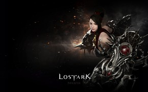 Picture girl, background, black, Lost Ark