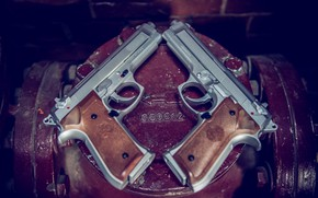 Picture background, guns, pair
