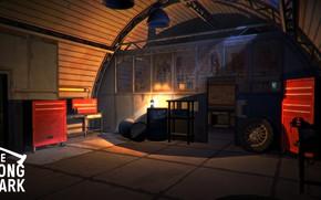 Picture Night, Garage, Night, Garage, Hinterland Studio, The Long Dark, Indie game