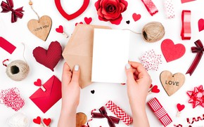 Wallpaper red, Valentine's Day, hearts, hearts, romance, love, gift, romantic, love, decoration