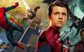 Picture art, spider man, iron man, tony stark, peter parker, robert Downey Jr., vulture, tom holland, …