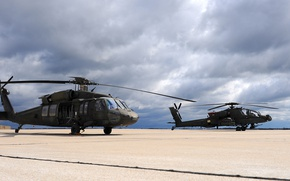 Picture USA, AH-64 Apache, UH-60 Black Hawk, helicopters