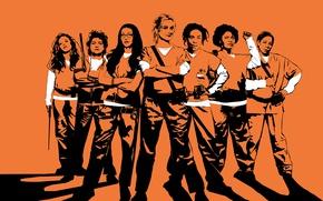 Picture girl, woman, orange, season 5, tv series, Orange Is The New Black