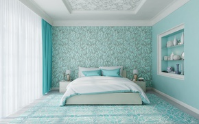 Picture bed, bedroom, decoration, Room