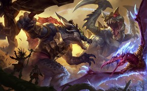 Picture the game, art, champion, sixmorevodka studio, Prehistoric Splash - League of Legends