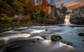 Picture nature, river, waterfall