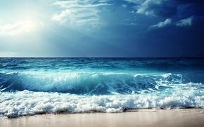 Wallpaper seascape, wave, sand, sea, sea, beach, shore, beach, wave