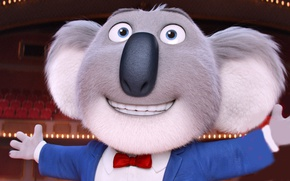 Picture cinema, movie, animal, film, animated film, tie, animated movie, family, koala, Sing