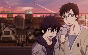 Picture anime, art, Ao no Exorcist, Rin, Yukio Okumura, Blue Exorcist